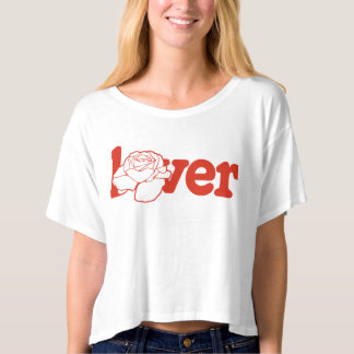 """Lover"" Boxy Crop T-Shirt"