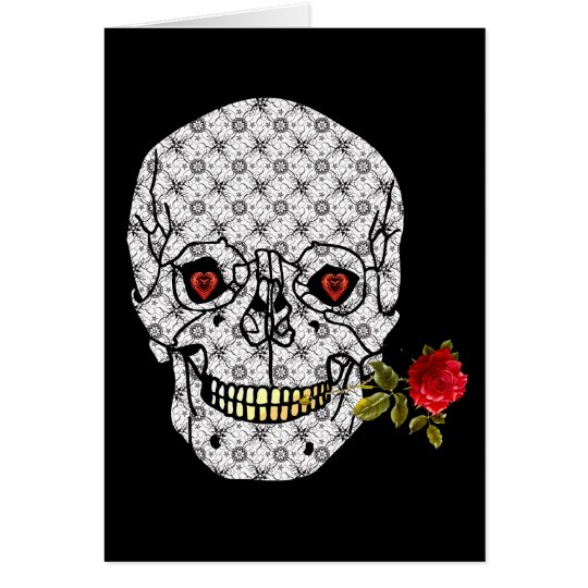 Lover Boy Skull Card