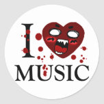 Lover of music_ round stickers