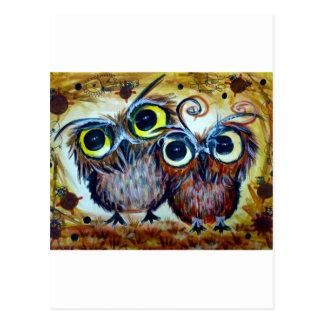 Lover owl family friend postcard