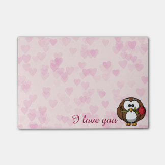 lover owl post-it notes