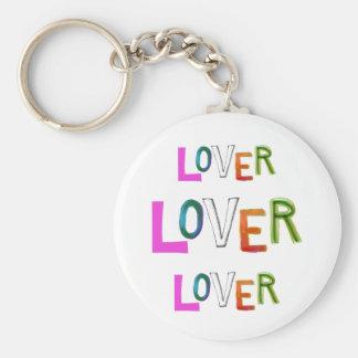 Lover partner girlfriend boyfriend spouse word art basic round button key ring