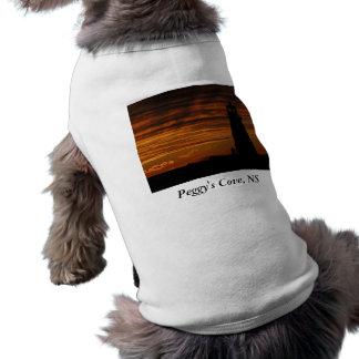 Lover s Silhouette Peggy s Cove Nova Scotia Doggie T Shirt