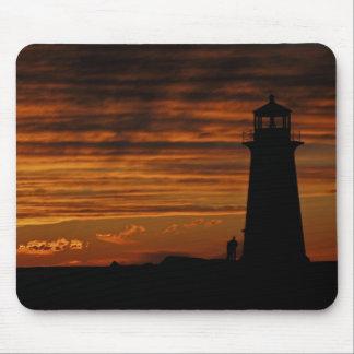 Lover s Silhouette Peggy s Cove Nova Scotia Mouse Pads