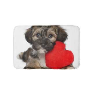 Lover Valentine Havanese Puppy Dog Bath Mat