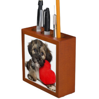 Lover Valentine Havanese Puppy Dog Desk Organiser