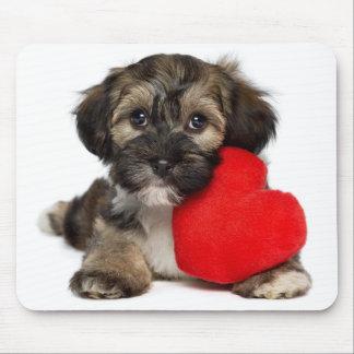 Lover Valentine Havanese Puppy Dog Mouse Mat