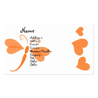 Loverly Dragonfly Business Card Template