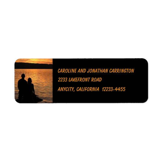 Lovers at Sunset Lake Return Address