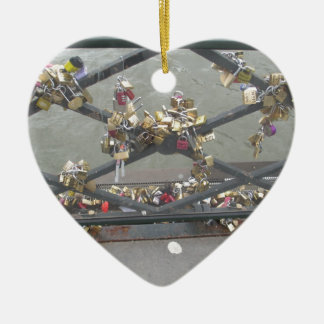 Lovers Bridge - Paris Love Locks, France Christmas Ornament