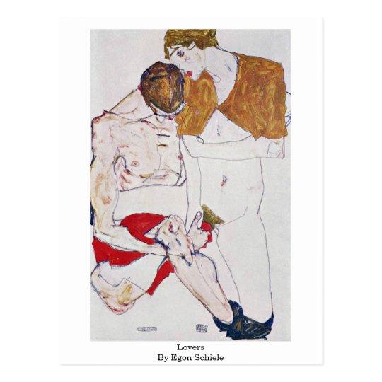 Lovers By Egon Schiele Postcard