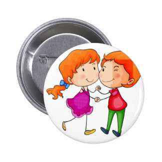 Lovers dancing 6 cm round badge