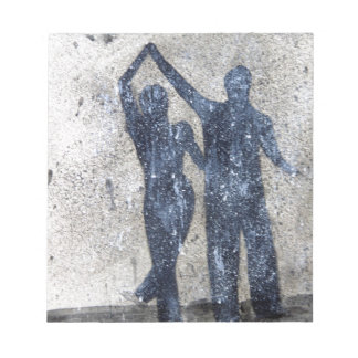 Lovers dancing in rain notepads