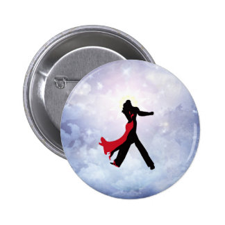Lovers dancing in the love star 6 cm round badge