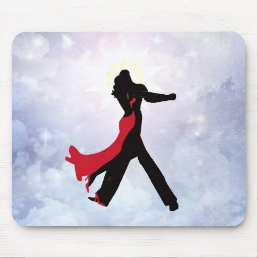 Lovers dancing in the love star mousepads