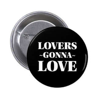 Lovers Gonna Love Customizable Black And White 6 Cm Round Badge