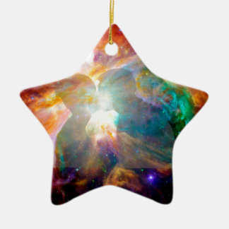 Lovers in Nebula. Christmas Ornament
