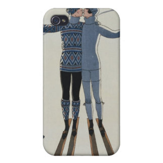 <Lovers in the Snow> by Georges Barbier iPhone 4/4S Cover