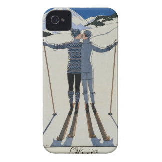 <Lovers in the Snow> by Georges Barbier iPhone 4 Case
