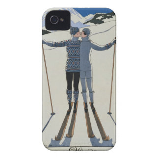<Lovers in the Snow> by Georges Barbier iPhone 4 Case-Mate Case