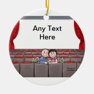 Lovers in the Theatre Christmas Ornament