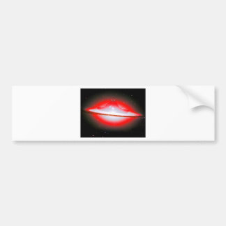 Lovers Kissing and Fishing on a Galaxy. Bumper Stickers