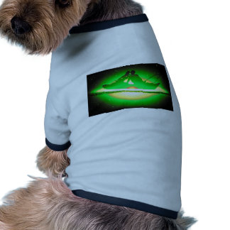 Lovers Kissing and Fishing on a greenish Galaxy. Dog Clothes