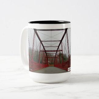 Lover's Leap Bridge- New Milford, Connecticut Two-Tone Coffee Mug