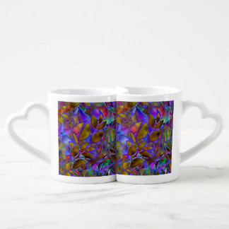 Lovers' mug Floral Abstract Stained Glass