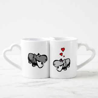 Lovers' Mug Set - Hippo in Love - Nilpferd