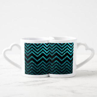 Lovers Mug Zig Zag Sparkley Texture
