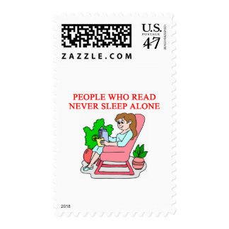 lovers of books and reading postage stamp