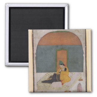 Lovers on a terrace, Garhwal, c.1780-1800 Refrigerator Magnet