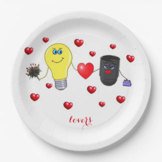 lovers paper plate