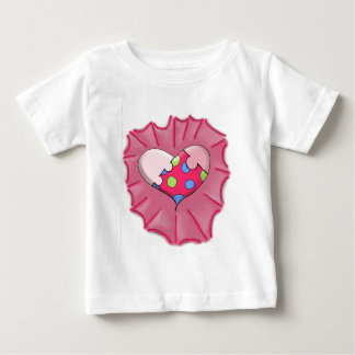 Loves a Puzzle Heart Digital Art Baby T-Shirt