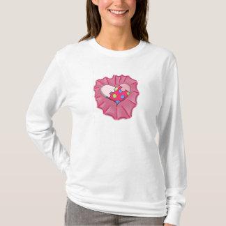 Loves a Puzzle Heart Digital Art T-Shirt
