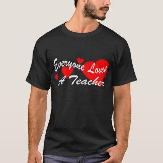 Loves a Teacher (Dark) T-Shirt