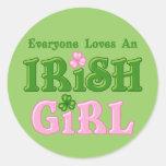 Loves An Irish Girl Round Sticker