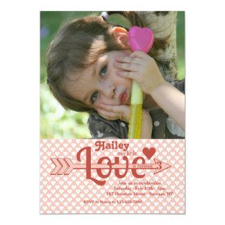 Love's Arrow Photo Invitation