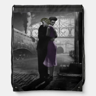 Love's Departure 2 Drawstring Bag