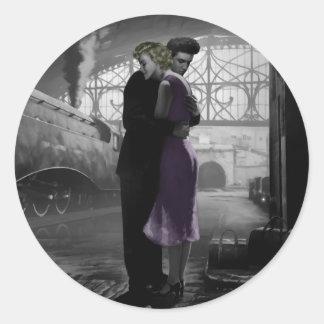 Love's Departure Classic Round Sticker