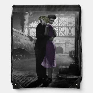Love's Departure Drawstring Bag