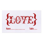Love's Embrace Wedding Place Card, Red