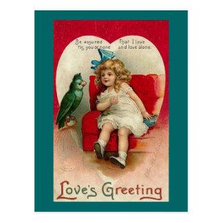 Love's Greeting Vintage Valentine (2) Postcard