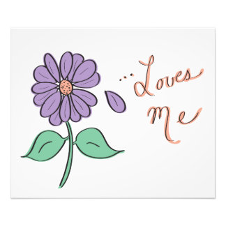 Loves Me Flower Petal Photograph