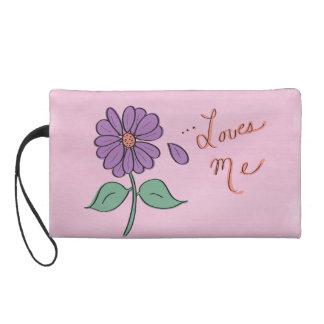 Loves Me Flower Petal Wristlet Clutch