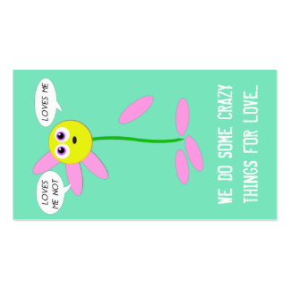 Loves Me Loves Me Not Mini Valentine Double-Sided Standard Business Cards (Pack Of 100)