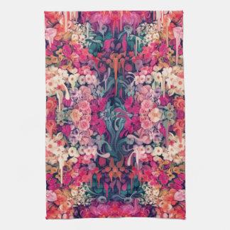 Loves me Maybe, melting floral pattern Tea Towel
