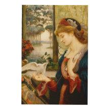 Love's Messenger Fine Art Wood Canvas