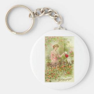 Love's Messenger Basic Round Button Key Ring